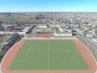 Garliavos A. Mitkaus mokyklos stadiono kompiuterinis vaizdas